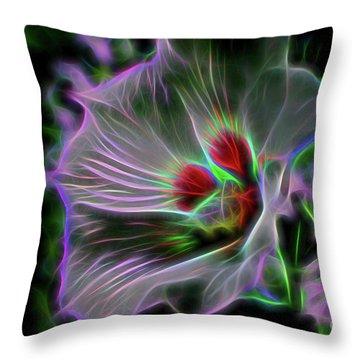 Transparent Nature Throw Pillow