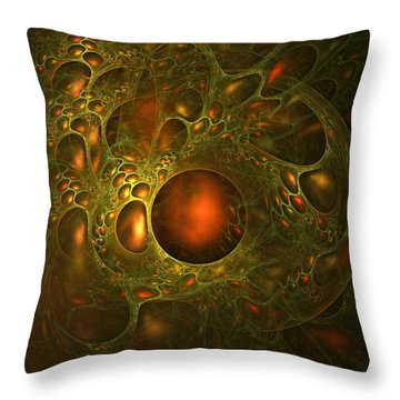 Transpiration Throw Pillow