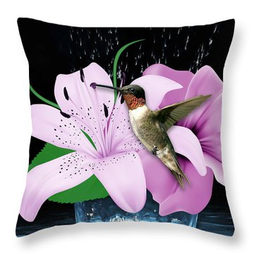 Transport Hummingbird Throw Pillow