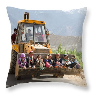 Transport In Ladakh, India Throw Pillow