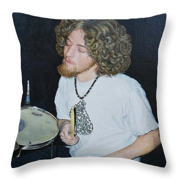 Transported By Music Throw Pillow by Michele Myers