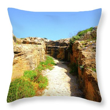 Trapani Sunny Road Throw Pillow