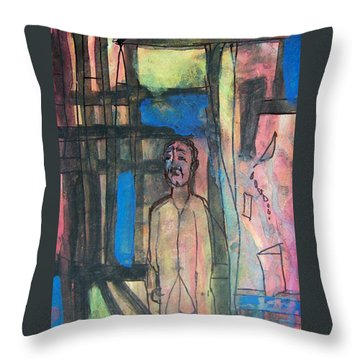 Trapped In Yourself Throw Pillow