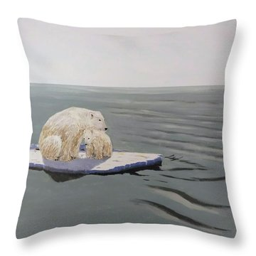 Throw Pillow featuring the painting Stranded by Kevin Daly