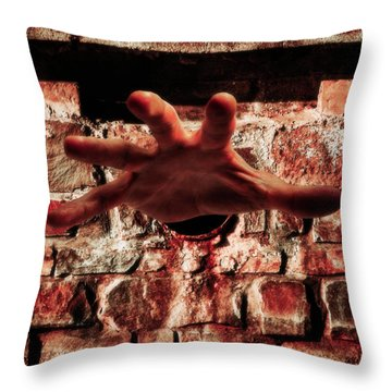 Trapped Throw Pillow by Wim Lanclus