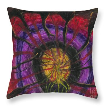 Throw Pillow featuring the painting Trapped Within  by Ania M Milo