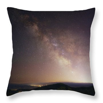 Trappers Loop Milky Way Throw Pillow