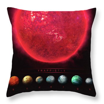 Trappist-1 Throw Pillow