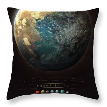 Trappist-1d Throw Pillow