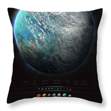 Trappist-1e Throw Pillow