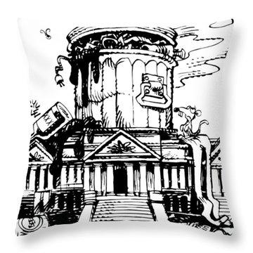 Trash Congress Throw Pillow