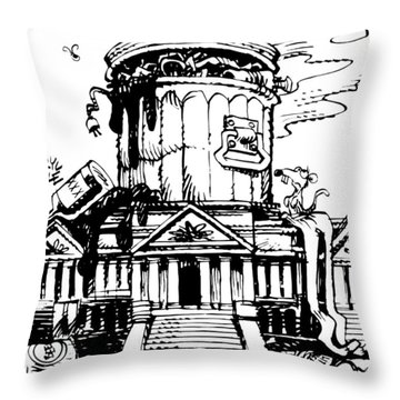 Trash Congress Throw Pillow