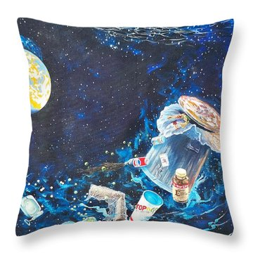 We Loved Earth At One Time - Yes We Did. Throw Pillow