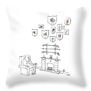 Trash Trophies Throw Pillow
