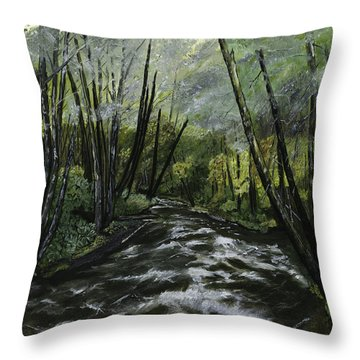 Trask River Throw Pillow
