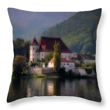 Throw Pillow featuring the photograph Traunkirchen - Austria by Ellen Heaverlo