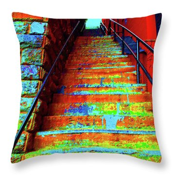Travel-exorcist Steps Throw Pillow by Jost Houk