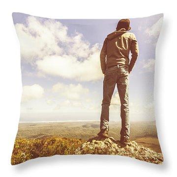 Travel Tourist Trekking West Coast Tasmania Throw Pillow