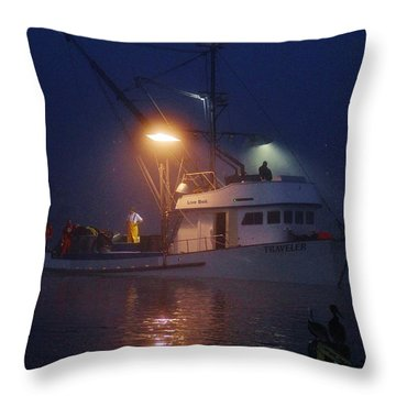 Traveler Bait Boat Throw Pillow
