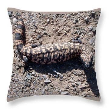 Traveler The Gila Monster Throw Pillow