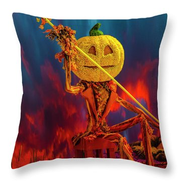 Traveler's Beware Throw Pillow