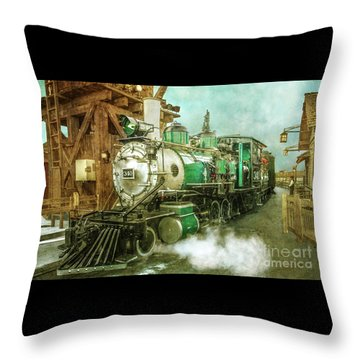 Traveling By Train Throw Pillow by Claudia Ellis
