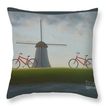 Traveling In Holland Throw Pillow