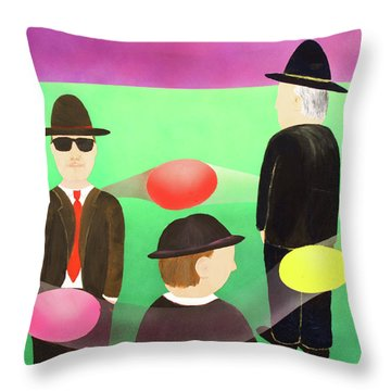 Traveling In The Right Business Circles Throw Pillow