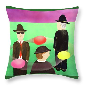Traveling In The Right Business Circles Throw Pillow by Thomas Blood