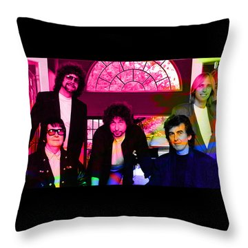 Traveling Wilburys Throw Pillow