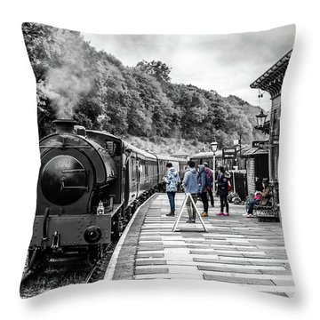 Travellers In Time Throw Pillow
