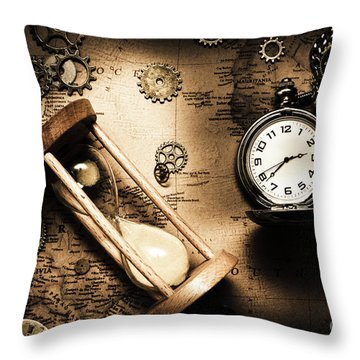 Travelling Old Worlds Throw Pillow