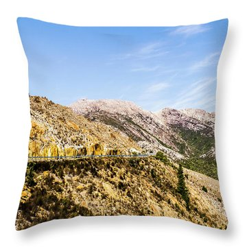 Travelling Rugged Alps Throw Pillow