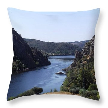 Travelling Through Western Portugal Throw Pillow