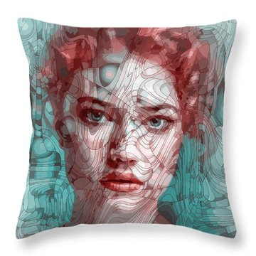 Travelling Wave Throw Pillow