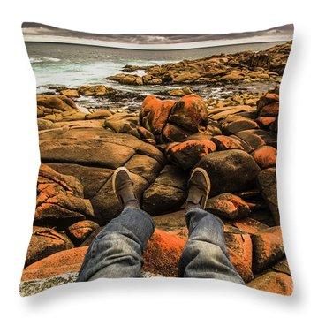 Travelling West Coast Tasmania Throw Pillow