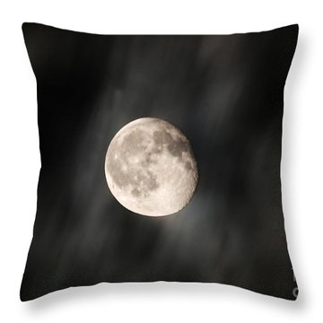 Travelling With Moon Throw Pillow