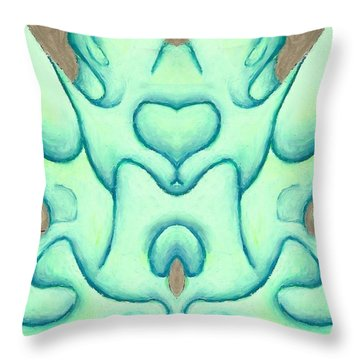 Travels Of The Mind Throw Pillow by Versel Reid