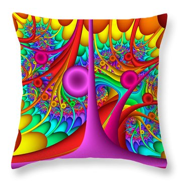 Tendrilous Throw Pillow
