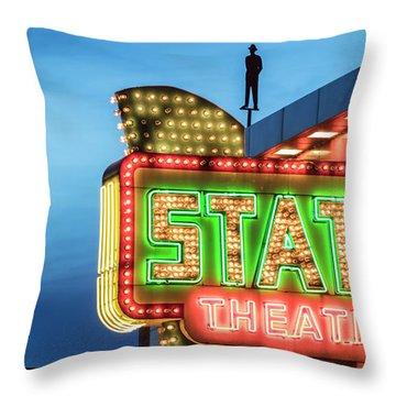 Traverse City State Theatre Throw Pillow