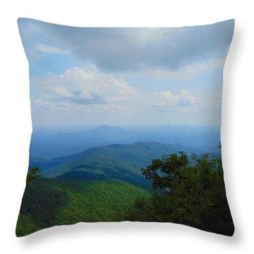 Tray Mountain Summit - North Throw Pillow
