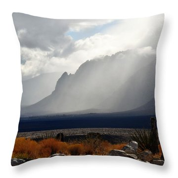 Tread Lightly Throw Pillow by John Glass
