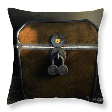Throw Pillow featuring the painting Treasure Chest Of Island 8 by Dave Luebbert