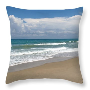 Treasure Coast Beach Florida Seascape C4 Throw Pillow by Ricardos Creations