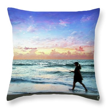 Treasure Coast Florida Seascape Dawn D6 Throw Pillow