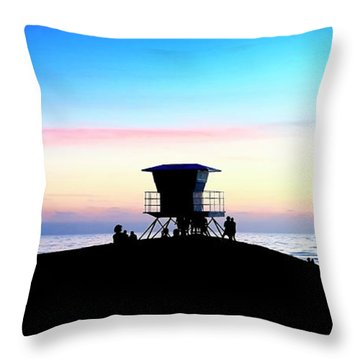 Treasure Coast Florida Sunrise Seascape Paradise 447 Throw Pillow