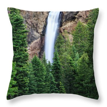 Throw Pillow featuring the photograph Treasure Falls by David Chandler