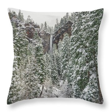 Treasure Falls Is One Of Colorado's Priceless Treasures.  Throw Pillow