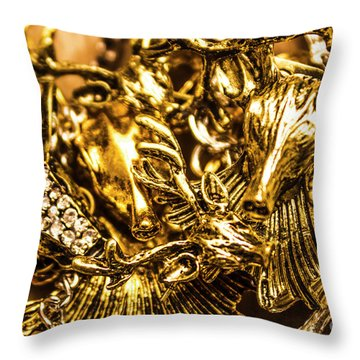 Treasure From The East Throw Pillow