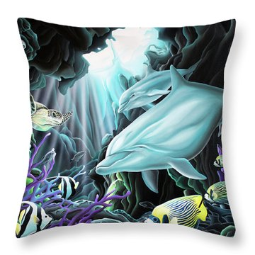Treasure Hunter Throw Pillow